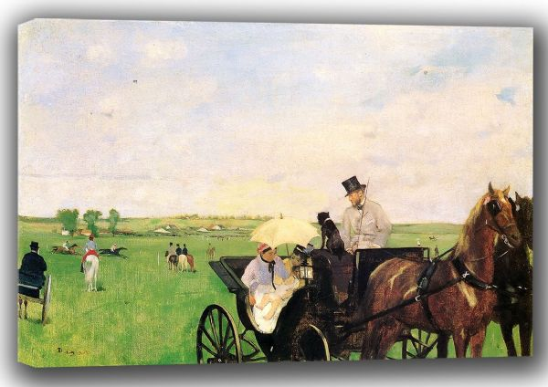 Degas, Edgar: At the Races in the Countryside. Fine Art Canvas. Sizes: A4/A3/A2/A1 (001374)